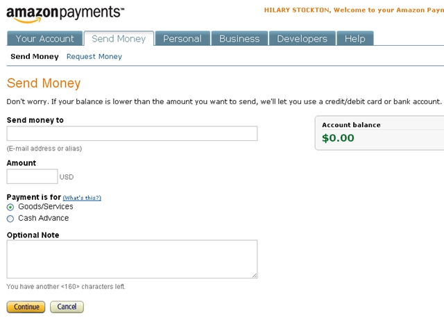 Use Amazon Payments to Meet Minimum Spend - Send Money