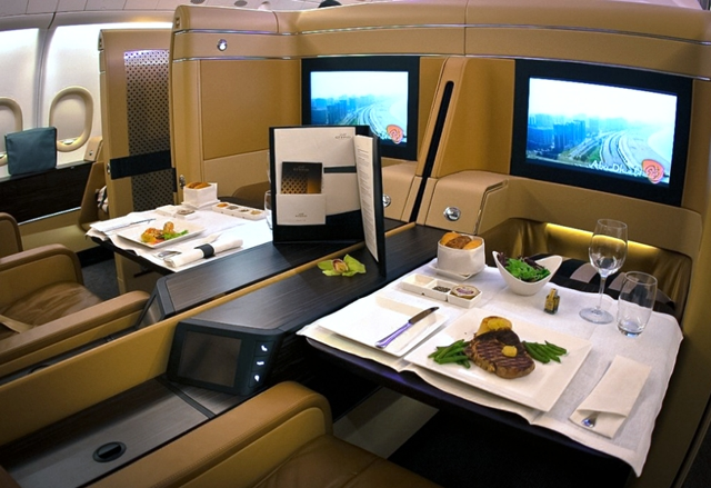 Best Airline First Class Seats for Couples: Etihad Diamond First Class Suites