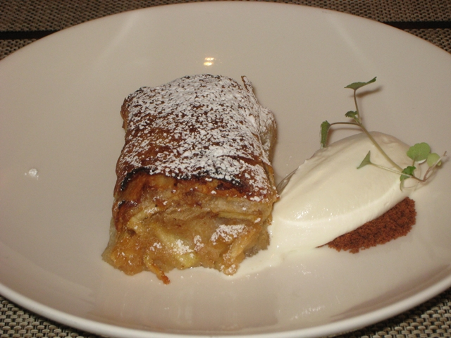 Seasonal NYC Restaurant Review - Apple Strudel
