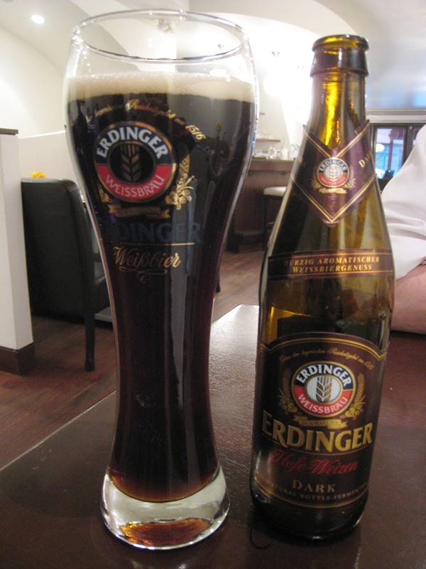 Seasonal NYC Restaurant Review - Erdinger Weissbier Dark Beer