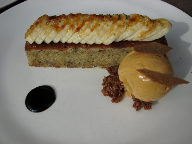 Nougatine at Jean-Georges NYC Restaurant Week Review - Banana Cake