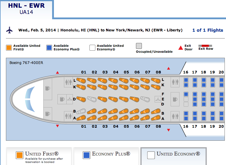 United airline seat assignment