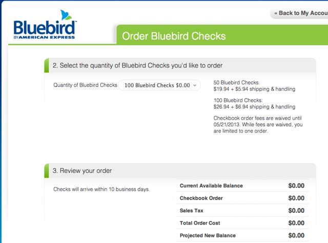 AMEX Bluebird-Order Free Bluebird Checks
