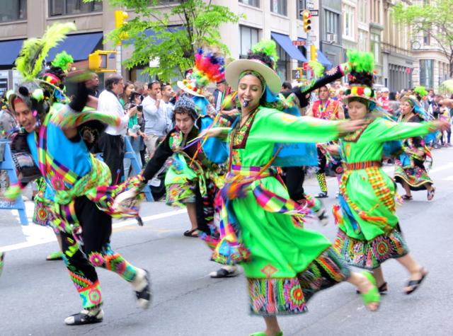 Bolivian Tinkus Dancers, NYC Dance Parade 2013
