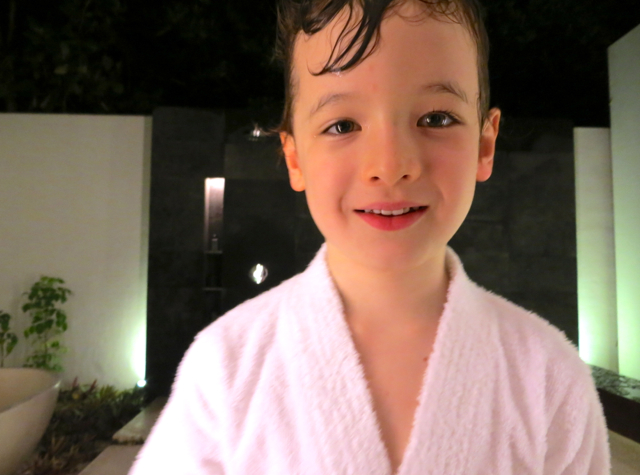 Park Hyatt Maldives Review - In Child Size Bathrobe