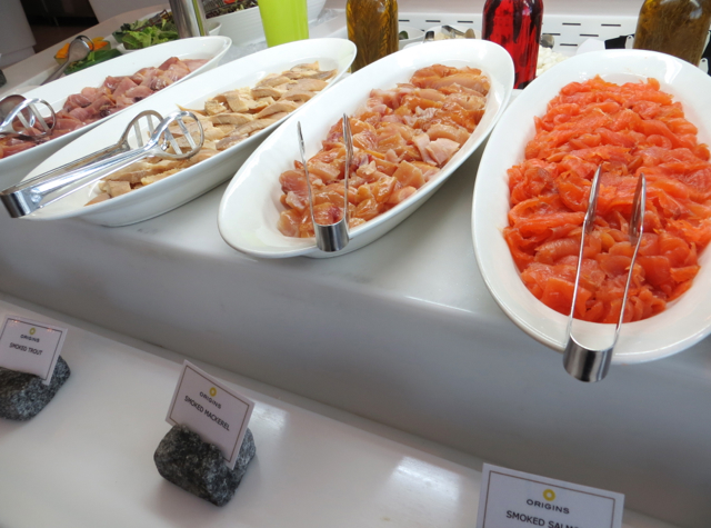 Yas Viceroy Abu Dhabi Hotel Review, Breakfast Buffet - Smoked Salmon