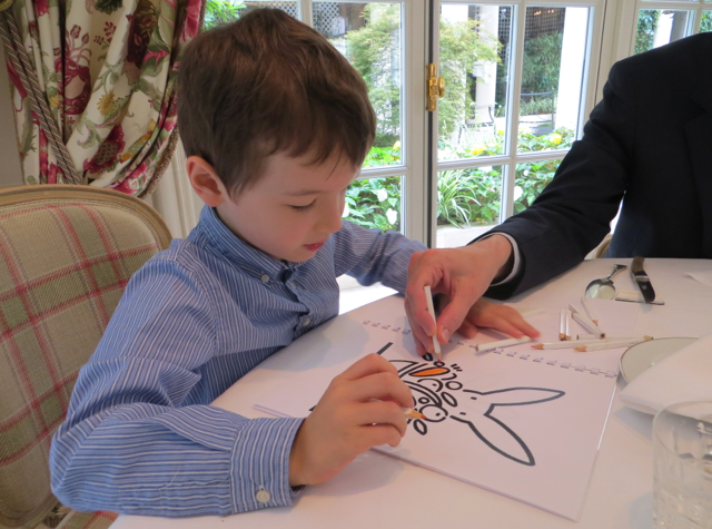 Epicure at Le Bristol Paris Restaurant Review - Kids Coloring Book and Pencils