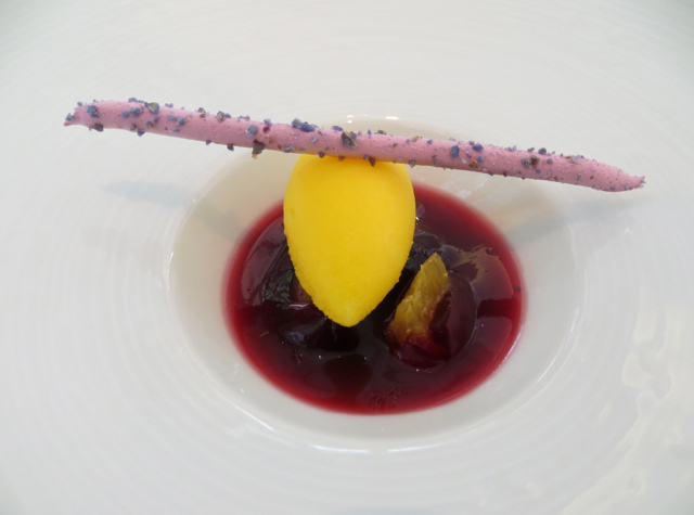 Epicure at Le Bristol Paris Restaurant Review - Pre-Dessert Sorbet Palate Cleanser