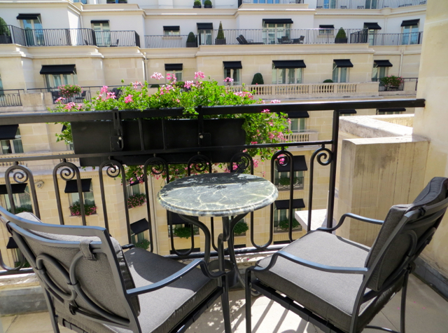 Four Seasons Paris Review - Terrace Facing Courtyard