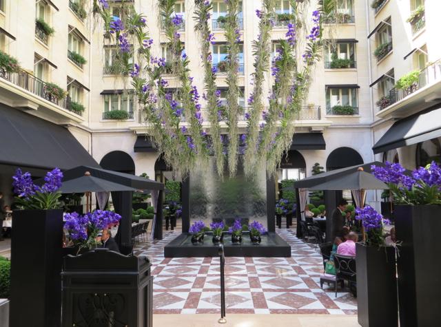 Four Seasons Paris Review - La Galerie Courtyard