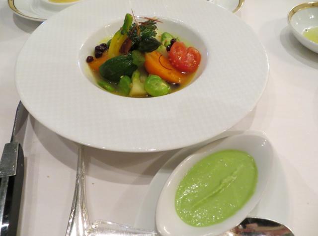 Le Cinq at Four Seasons Paris Restaurant Review - Young Vegetables
