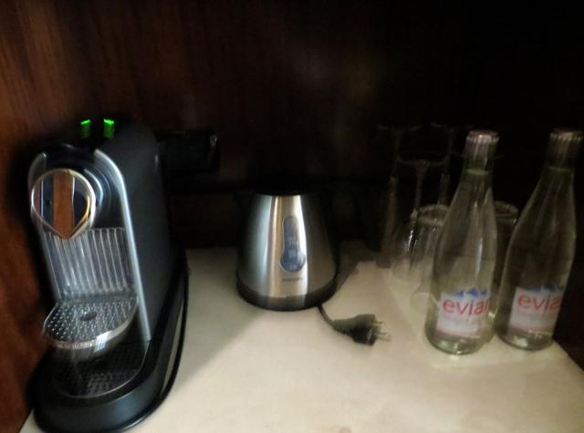 Park Hyatt Paris-Vendome Review - Nespresso Machine and Evian Water