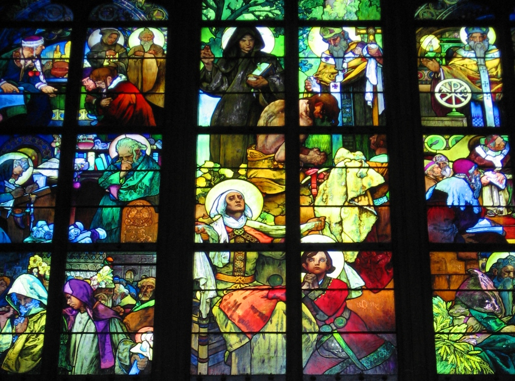 Mucha Stained Glass Window, St. Vitus Cathedral-Prague