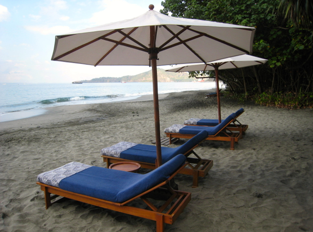 Amankila Ocean Suite Review, Bali - Loungers on Private Beach
