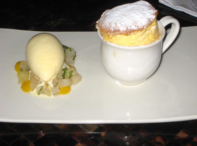 Amankila Ocean Suite Review, Bali - Passion Fruit Souffle for Dessert