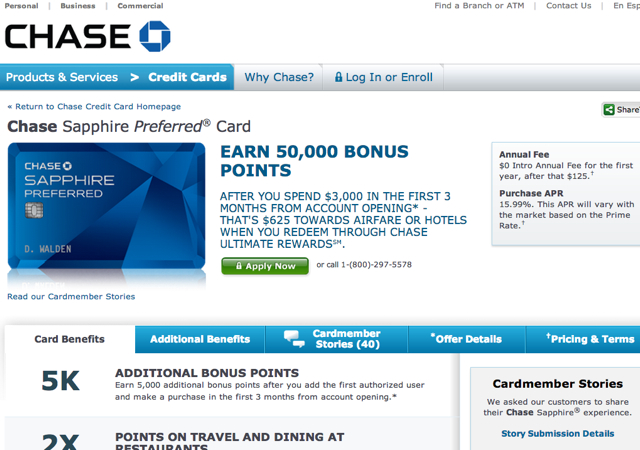Chase Sapphire Preferred: Up to 55K Bonus Offer