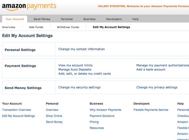 My online account options mastercard
