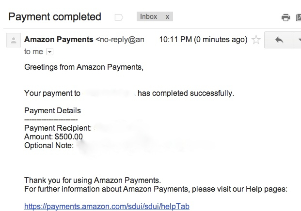 Amazon Payments: Cash Out Gift Cards Bought to Meet Minimum Spend