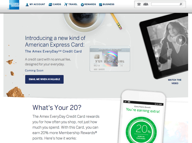 credit cards everyday card