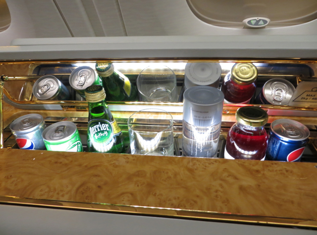 Emirates First Class A380 Review - Mini Bar