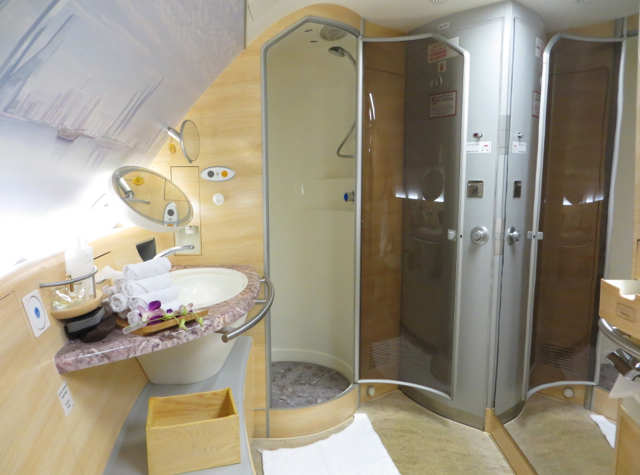Emirates First Class A380 Review - Shower