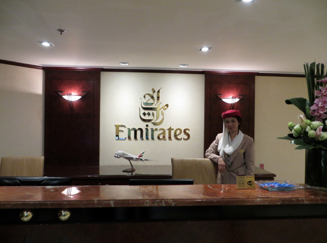 Emirates Lounge Reception, Hong Kong