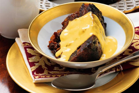Christmas Pudding and Custard Sauce, UK