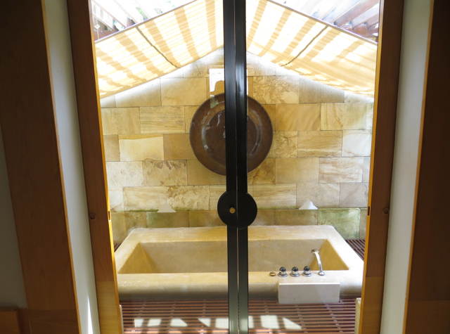Amanjiwo Review, Borobudur - Sunken Outdoor Bath