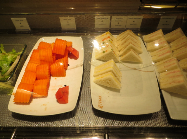 Thai Royal Orchid Lounge Bangkok Review - Fruit and Sandwiches