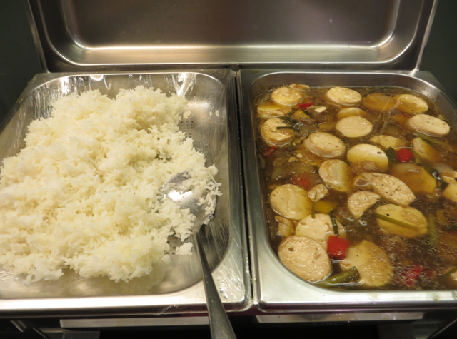 Thai Airways Royal Orchid Lounge Bangkok Review - Rice and Stew