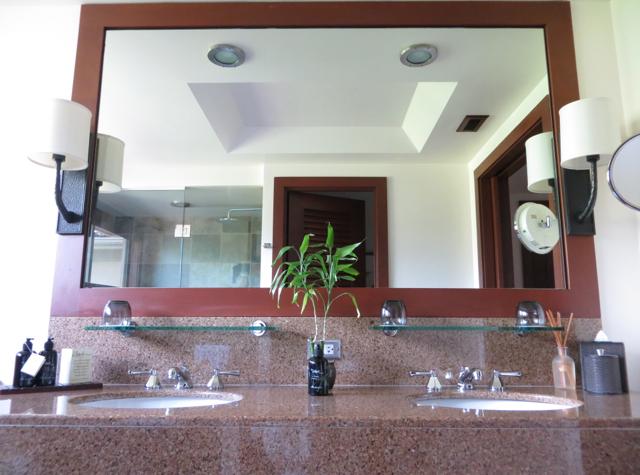 Four Seasons Hualalai Review - Bathroom with Dual Vanities
