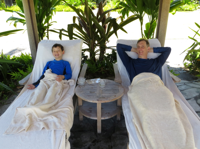 Four Seasons Hualalai Review - Relaxing After a Swim