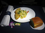 Square_alaska_airlines_first_class_to_hawaii_review-dinner_appetizer-potstickers_with_slaw-roll_