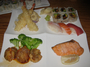 Square_tsushima-best_sushi_in_nyc_midtown-selection_dinner_with_teriyaki_scallops_salmon_unagi_avocado_roll_and_sushi