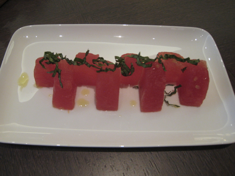 Park Hyatt New York Review-Compressed Watermelon with Basil