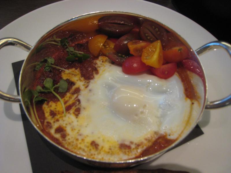Shakshuka with Merguez Sausage and Poached Egg, Park Hyatt New York