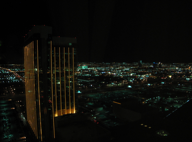 Four Seasons Las Vegas Review: Night View from Executive Suite