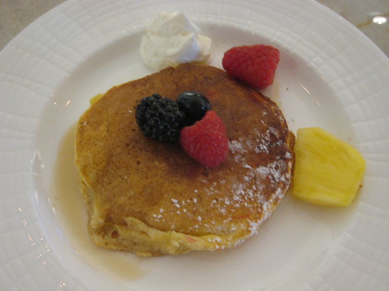 Lemon Ricotta Pancake with Berries, AMEX Centurion Lounge, Las Vegas