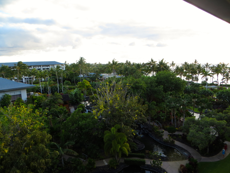 View from Fairmont Orchid Gold Floor Lounge Lanai