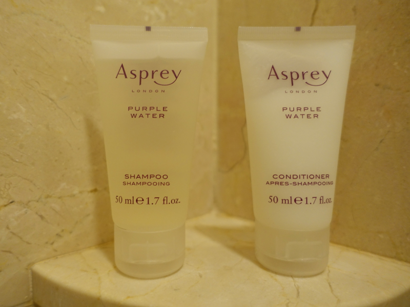 Boston Harbor Hotel Review - Asprey Purple Rain Bath Products