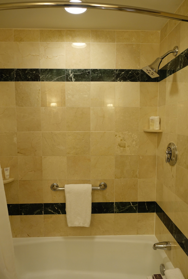 Boston Harbor Hotel Review - Bathtub Shower Combo, Superior Room Bathroom