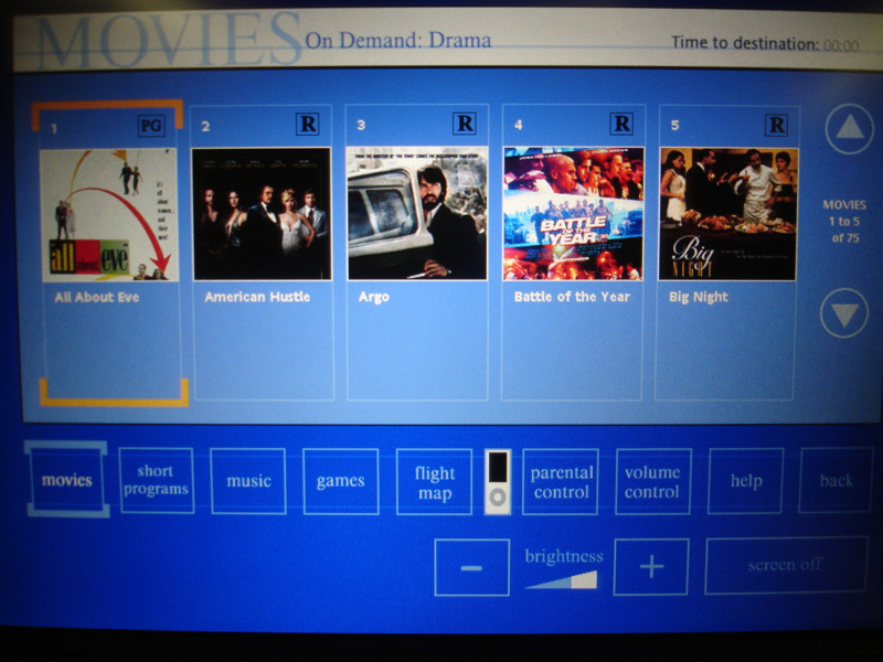 United First Class Review - IFE Movies