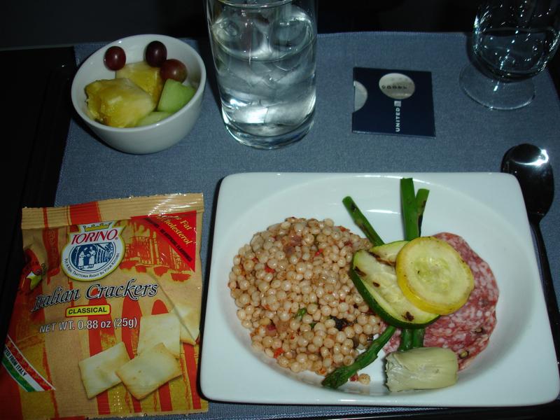 United First Class Review - Light Dinner