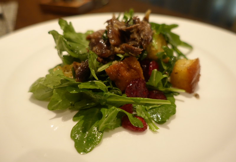 British Airways First Class Lounge Review - Salad with Duck Confit