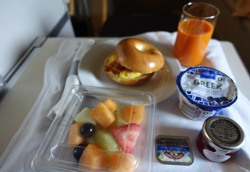 British Airways Business Class Review - Breakfast