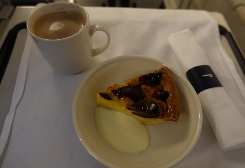 British Airways Business Class Dessert: Plum Almond Tart