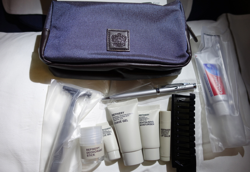 British Airways First Class Amenity Kit with Refinery Products