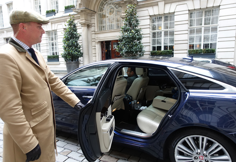 Rosewood London House Car: Jaguar
