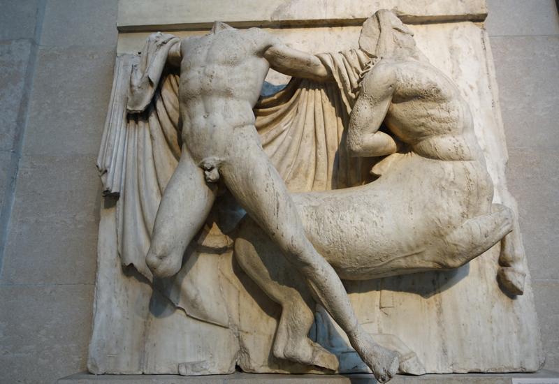 British Museum Elgin Marbles: Centaur and Lapith
