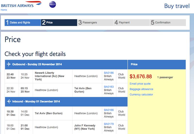 AARP $400 Off British Airways Business Class Flights